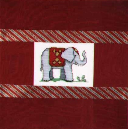Counted Cross Stitch Elephant Cushion2