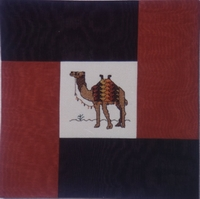 Counted Cross Stitch Camel Cushion